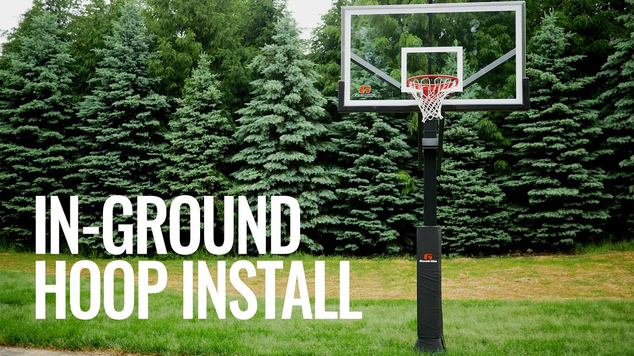 in ground adjustable basketball hoops