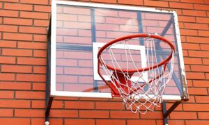 garage mounted basketball hoop